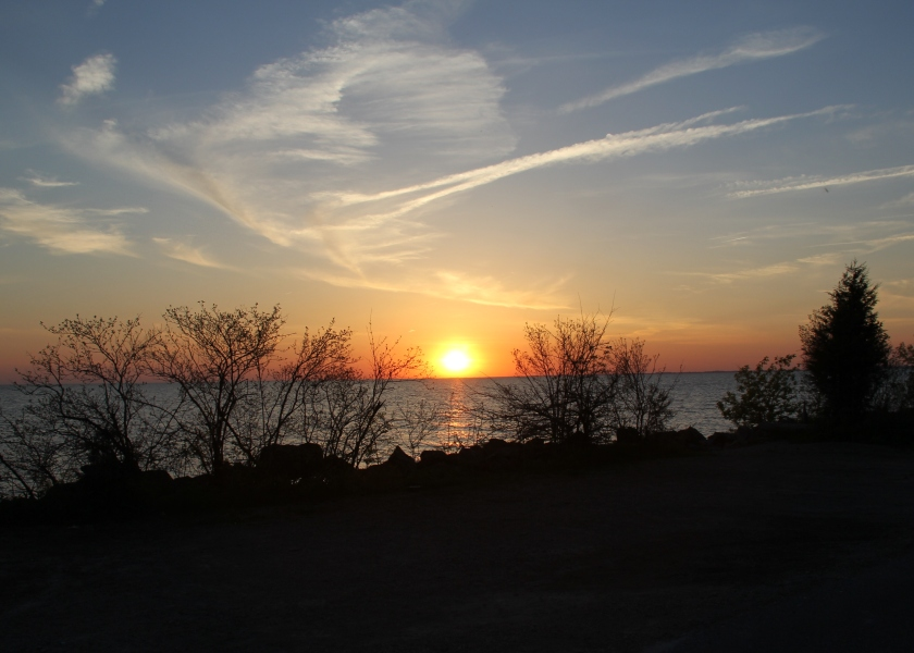 Sunset over Lake Erie
