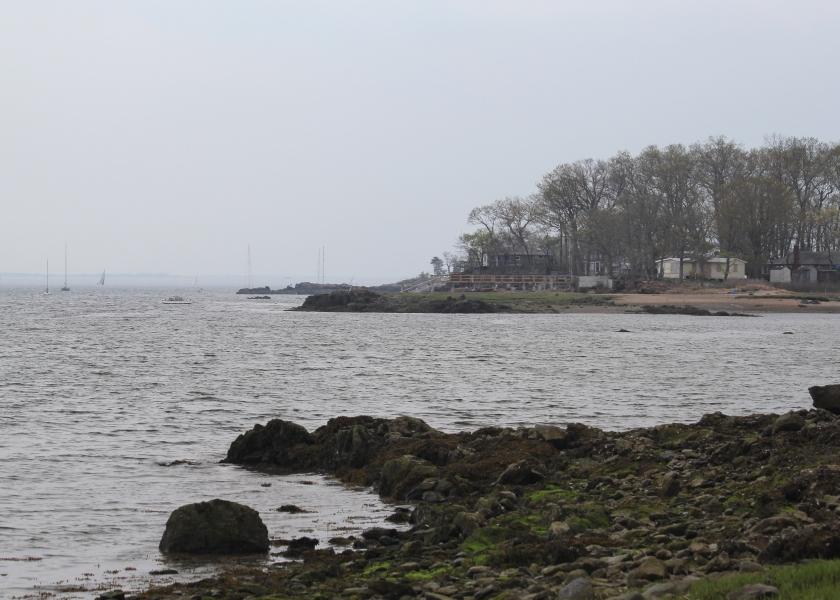 Long Island Sound at marshlands Conservancy