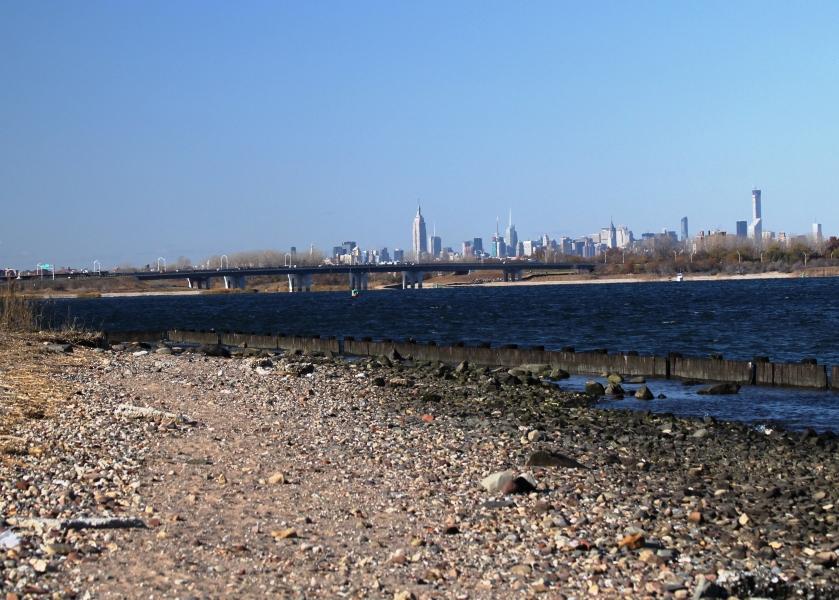 View of New York City from the Northwest corner of Floyd Bennett Field